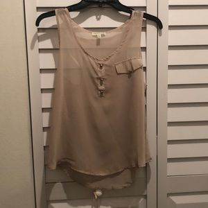 Chocolate Tops - Beige tank top shirt only worn once